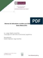 07-16 Informe de Indicadores Sociales en El Estado de Mexico Enero-Marzo 2016