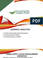 4. Greening the SCM S