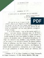 Homilía Nº1 - Tomás Carrasquilla (Fotografiado)