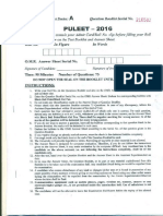 PULEET 2016 Question Paper with Answers.pdf