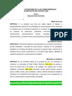 Propuesta de Reforma de La Ley de Minerales No Metalicos ORLANDO 2(1)