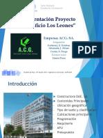Presentación de Edificación, Edificio Los Leones