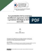Los Postulados de La Economía Neoliberalsupuestos Científicos o Premisas
