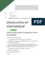 Dissolution of Partnership