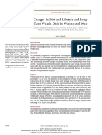 Changes in Diet and Lifestyle and Long-term Weight Gain in Women and Men