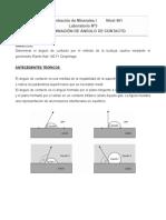 Guía Laboratorio Nº 3 Determinación de Ángulo Contacto