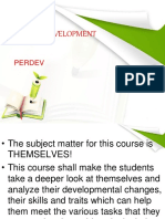 Introduction to Perdev