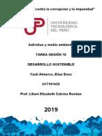 Tarea Sesion 10 Desarrollo Sostenible Ind. Medi. Ambiente 2019