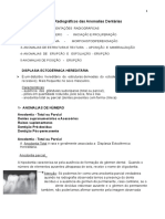 Aspectos Radiográficos das Anomalias Dentárias