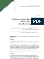 El Valor en Riesgo Condicional CVaR Como Medida Coherente de Riesgo