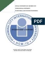 Internship 1 Report Model