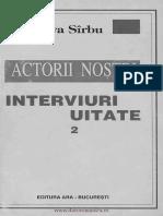 Sirbu, Eva - Actorii Nostri - Interviuri Uitate 2 1999