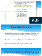 Historia de Los Nematicidas