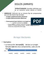 Arreglos (Arrays) Presentacion 2018ii