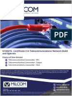MILCOM ICT20215 - Certificate II in Telecommunications Network Build and Operate.v1.2