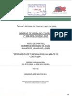 Informe de control sobre designación de funcionarios en el Gobierno Regional de Junín
