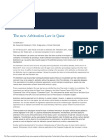 New Arbitration Law in Qatar
