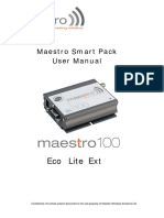 MAESTRO 100 Smart Pack User Manual 0094d
