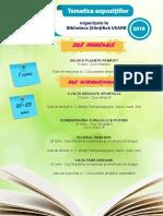 Tematica expoziţiilor organizate în luna iunie-iulie de Biblioteca Ştiinţifică USARB