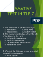 Summative Test in Tle 7