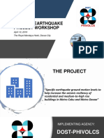 PHIVOLCS-Specific Earthquake Project Workshop