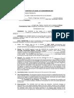 Condominium Contract of Lease Sample