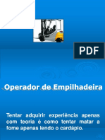 Empilhadeira Treinamento Operadores Agosto 2013