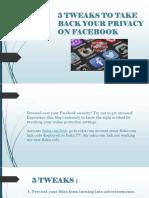 How to Tweak Facebook Privacy Settings