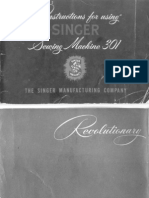Singer 301 Manual