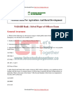 NABARD Grade a & B Previous Year Paper PDF 14 @Letsstudytogether.co