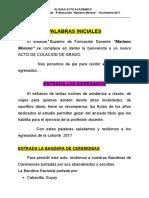 Glosas Acto Egresados 2018 Prof.