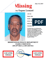 Missing Person - Leonard Larry