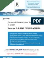 Financial Modeling & Analysis Course - Trinidad & Tobago