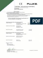 Fluke 233 Certificate Conformity