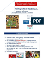 Participatory River Basin Management as a backbone for Integrated Water Resource Management under decentralized system of governance Learning from best practices & problems