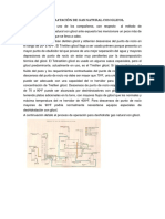 Deshidratación de Gas Natural Con Glicol.proceso de Campo