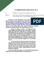 Supreme Court Administrative Circular No. 69-10