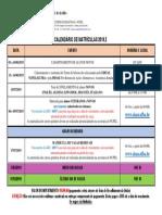 Calendario de Matriculas 2019 0