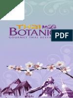 Thai Botanico Menu EN