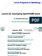 02 Lectures OpenFOAM Solver Modification