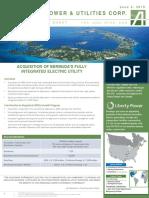 Algonquin Power Acquisition Fact Sheet