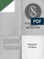 Scientology Abridged Dictionary 1973