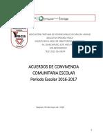 Acuerdos de Convivencia Comunitaria Escolar 2016 2017