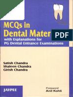 MCQ s in Dental Materials