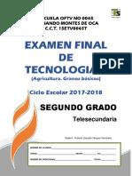 Examen Final Tecnologia II Grado 2°