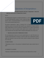 Jurisprudence Questions Answers