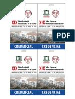 Credenciales Xix Taller