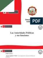 FUNCIONES AUTORIDADES POLÍTICAS
