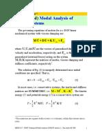 HD 7 Modal Analysis Undamped MDOF