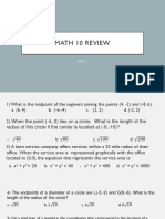Math 10 Review